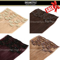 Real Remy Human Hair Clip In Hair Extensions