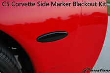 C5 Chevy Corvette REAR SIDE MARKER LIGHTS Blackouts Blackout Smoked Covers