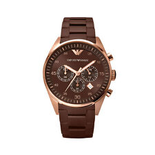 NEW EMPORIO ARMANI AR5890 ROSE GOLD MENS TAZIO WATCH - 2 YEAR WARRANTY