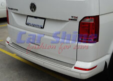 VW T6 Vans BRUSHED STEEL REAR BUMPER PROTECTION SILL
