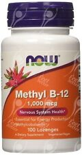 NOW Foods, Methylcobalamin Vitamina B12, 1000mcg x100 LOZENGES