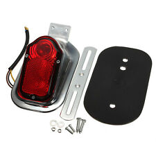 Motorcycle Rear Tail Light LED License Plate Bracket For Harley Custom Chopper