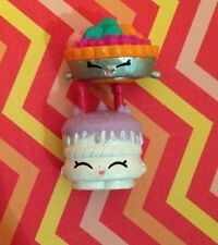 SHOPKINS ~FOOD FAIR 022 Silver Fifi Fruit Tart~019 White Wishes Combined Ship