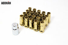 20Pc Aodhan Xt51 12X1.5 Lug Nut Gold Open Fit Civic Si Mazda 3 6 Rx7 Rx8