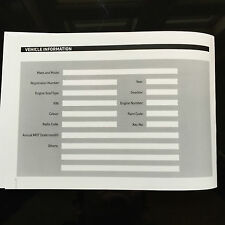 PEUGEOT 308 Service Book - History Maintenance Record Portfolio - New Blank