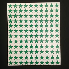300 x Green Star Shape Peel and Stick Self Adhesive Vinyl Stickers 10mm