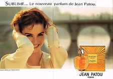 PUBLICITE ADVERTISING 034  1992   JEAN PATOU  parfum SUBLIME (2pa)CLAUDE LELOUCH