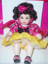 """Disneyland 55th Anniversery Marie Osmond """"Snow White Tiny Tot Doll"""" NEW IN BOX"""
