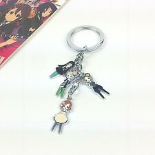 Anime K-on! Cosplay 4 Main Characters Key Chain Ring KeyChain