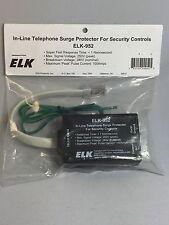Elk Home Alarm Security In-Line Telephone Surge Protector #ELK-952