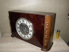vintage old mantel Clock wood Antique art deco uhr antique bakèlite mid century