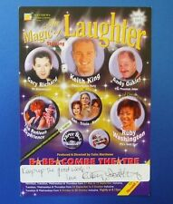 THEATRE FLYER THE MAGIC OF LAUGHTER SIGNED BY RUBY WASHINGTON