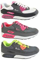 Womens Ladies Rush Hour Air Max Trainers Running Value Sport Gym Shoes Lace Up