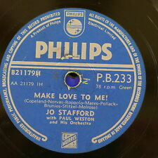 78rpm JO STAFFORD make love to me / adi-adios amigo