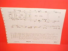 1950 1951 1952 1953 WILLYS JEEP JEEPSTER STATION WAGON 4+6 FRAME DIMENSION CHART