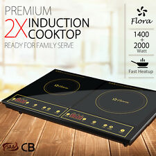 Flora New 2x Portable Electric Induction Cooker Cooktop Oven Cookware