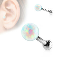 Simulated Opal Ball Internal Thread IP Helix Tragus Cartilage Barbell Stud 16g