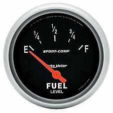AutoMeter Sport-Comp Short Sweep Electrical Fuel Level Gauge 2.5/8 in   AU3514
