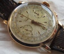 Longines chronograph mens wristwatch cal. 30CH 18K solid gold case all original