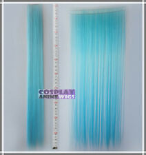 Light Blue Hair Weft Extention (3 pieces) - 100cm High Temp - Cosplay 8_VLB