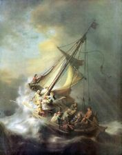 A3 Box Canvas Christ in a storm on the sea of Galilee Rembrandt