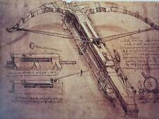 A3 LEONARDO DA VINCI poster Giant Crossbow Design National Gallery exhibition