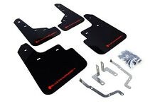 Rally Armor Mud Flaps Guards for 14-16 Mazda Mazda3 (Black w/Red Logo)