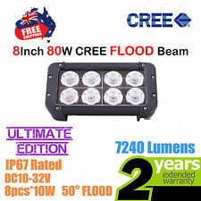 8inch 80W CREE LED Light Bar High Output Ultimate Edition Double Row FLOOD Beam
