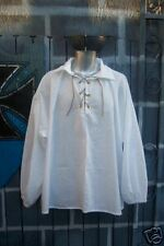 Mens Renaissance Colonial Pirate Poet Prince Eric Peasant Shirt, Size Medium