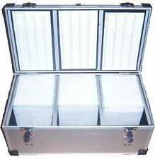 1 x 510 ALLUMINIO DJ CD DVD Disco volo Carry Case Box con maniche