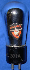 Good Crusader Brand UX 201A Vacuum Tube Good Label, Scarce Brand