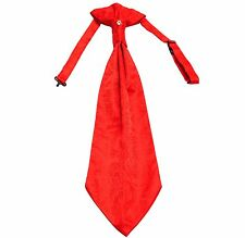 New 100% Polyester Men's Paisley Ascot Cravat Only Wedding Prom formal Red