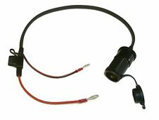 "12V Motorcycle Accessory Power Socket 50cm (20"") Cable - Blade Fused - Easy Fit"