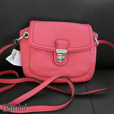 NWT Coach Poppy Rose Pink Pebbled Leather Flap Crossbody Bag Purse SWINGPACK NEW