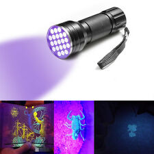 12LED UV Flashlight Handheld Blacklight Stain Pest Scorpion Detector Torch Money