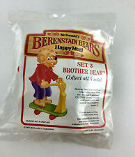 McDonald's Happy Meal Toy Berenstain Bears Set 3 Brother Bear 1987 NIP Scooter
