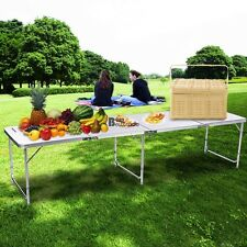 8ft Folding Table Aluminum Indoor/ Outdoor Picnic Party Dining Table Lightweight