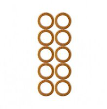 "HEL M10 Copper Crush Washers - Fits 10mm, 3/8"" & 1/8"" bolts (10 washer pack)"