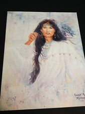 """Cherokee Girl In White Large 16"""" X 20"""" Picture Print New In Lithograph"""