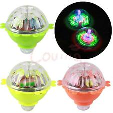 1 X Flash LED Light Gyro Peg-Top Spinner Spinning Kids Toy Random Color
