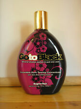 Supre GO TO BLACK Indoor Tanning Lotion Maximizer With Argan Oil New 12 Oz