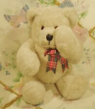 "MANGO BEAR CO. PLUSH STUFFED 8"" BEIGE TEDDY WITH MAGNETIC PEEK A BOO PAWS MINT"