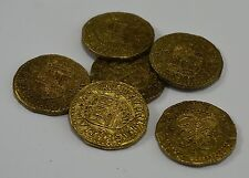 Superb Job Lot 6 Spanish Gold Doubloons - Coins/Pirates/Treasure/Spanish/Gift