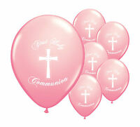 """30 PINK FIRST HOLY COMMUNION 11"""" HELIUM BALLOONS PARTY DECORATIONS  (PA)"""