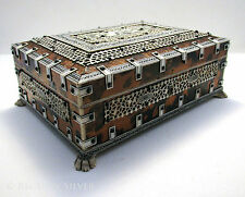 Superb Antique Anglo Indian VIZAGAPATAM Table Trinket Cigarette Cigar Box Casket