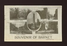 Herts Hertfordshire BARNET Souvenir M/view RP PPC used c1920 creasing
