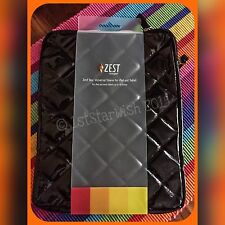 Zest 'Ava' Universal SLEEVE for iPAD & TABLET Quilted Diamond Shaped Gloss Black