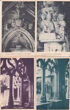 Lot 4 cartes postales anciennes CADOUIN cloître 2