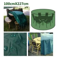 100x 227cm Waterproof Outdoor Round Garden Furniture Set Cover Table Shelter
