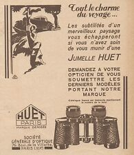 Z8526 Jumelle HUET - Paris - Pubblicità d'epoca - 1931 Old advertising